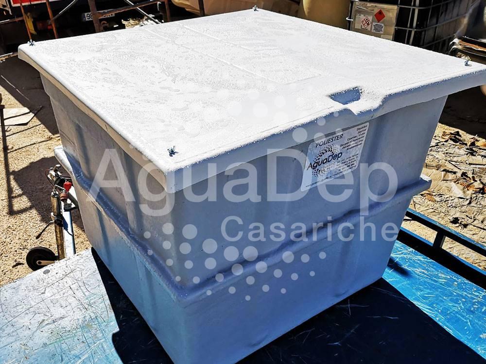 Depósito standar rectangular con tapa